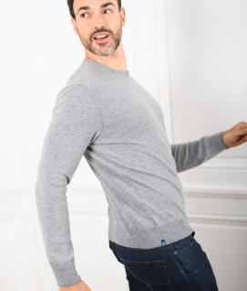 Le Pull Français Marcel - gris chiné