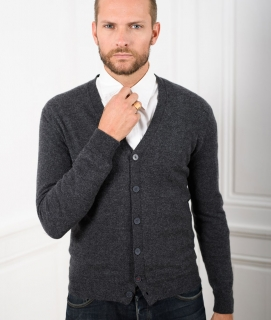 Le Pull Français Marius - gris anthracite