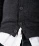 Le Pull Français Marius - gris anthracite boutons
