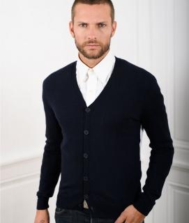 Le Pull Français Clovis cardigan - tricolore