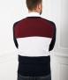 Le Pull Français Clovis cardigan - tricolore Pull mérinos
