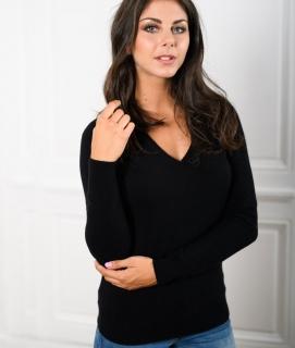 Le Pull Français Fanny - noir