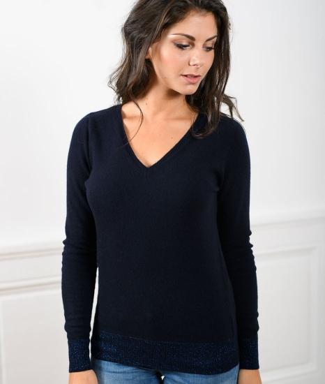 Le Pull Français Fanny - marine