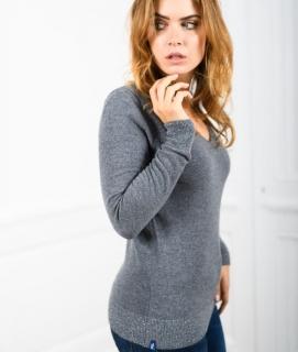 Le Pull Français Fanny - gris