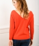 Le Pull Français Manon - mandarine Pull made in France