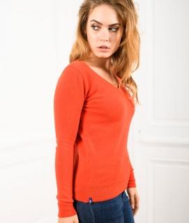 Le Pull Français Fanny - mandarine