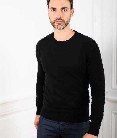 Le Pull Français Marcel - noir/bleu indigo pull cachemire