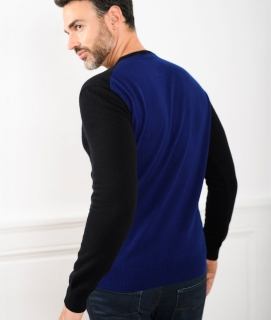 Le Pull Français Marcel - noir/bleu indigo