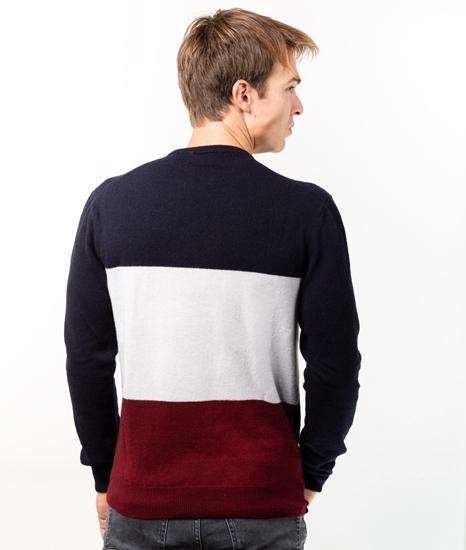 Le Pull Français Clovis - tricolore Pull Homme