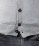 Le Pull Français Marius - gris chiné cardigan Homme