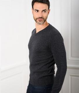 Le Pull Français César - gris anthracite