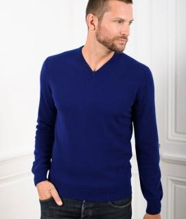 Le Pull Français César - bleu indigo
