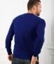 Le Pull Français César - bleu indigo mérinos